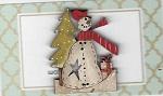 Snowman with tree & parcel 5cm