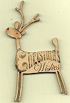 Big Deer white with Christmas stamp