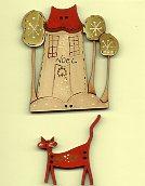 Christmas Cat's House