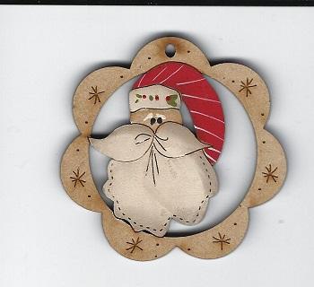 Happy Santa Face in 6cm frame