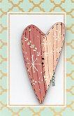 Dusky pink & white heart button 6cm