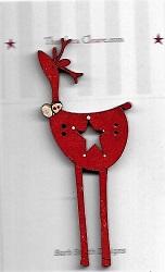 Star Big Deer Red Button 7cm