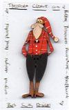 Santa 25th Dec Button