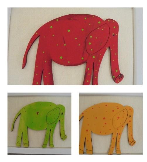 Ellie Elephants x 3 set 12cm tall x 14 cm long
