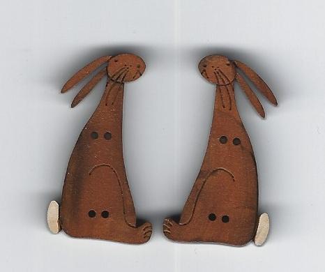 English Bunnies set 2 Tan 3.5cm