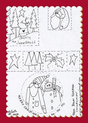 Xmas Mix illustrated Stitching