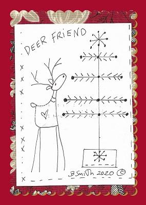 A Deer Friend Illustrated stitchery