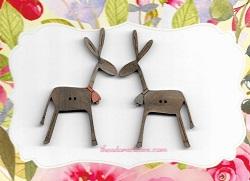 Donkeys 6cm tall