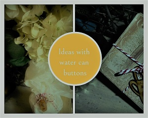 Watering Can sepia Button