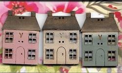 Beachfront houses pastels #2