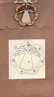 Twig Angel Stitchery