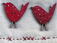 Birdie Red with spots 27mm x 2