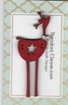 Deer Star Red Button 7cm