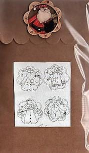Santa Bird & their friends Brown bag designs