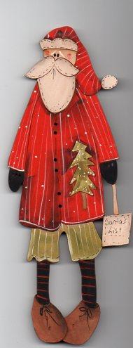 Very Large Call me Santa decoration 23 cm