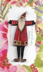 Santa Patched Coat button 6cm