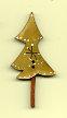 Snowflake Christmas Tree Button 4.5 cm