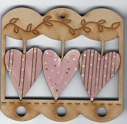 Heart Pink Thread holder