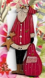 Santa with toybag & stars