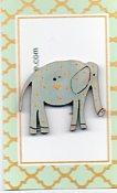 Elephant pale blue yellow spots 35mm