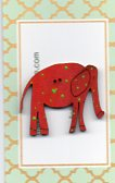 Elephant red & lime spots 35mm