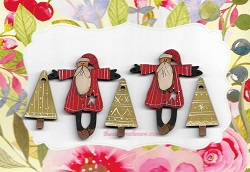 Pere Noel Santas & triangle trees ( 1 only)
