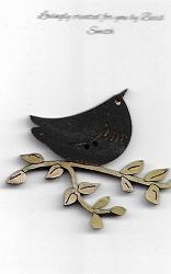 Bird black bird on a branch