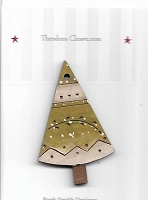 Tree Triangle etched 5 cm