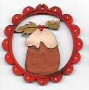 Pudding scallop 6cm Decoration