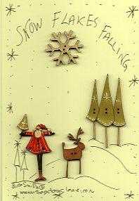 Snowflakes Falling Button stitchery