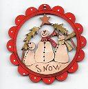 Snowmen Trio scallop 6cm