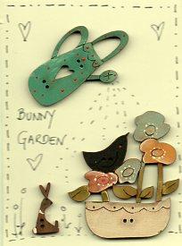 Bunny Garden Button Stitchery