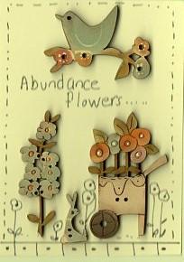 Abundance Flowers Button Stitchery