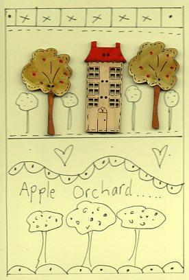 Apple Orchard Button Stitchery