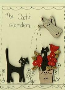 Cat's Garden Button Stitchery