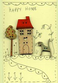 Happy Home Button Stitchery