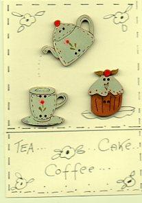 Tea, coffee, cake Button Story