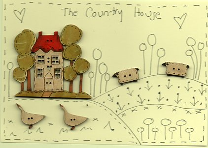 The Country House Button stitchery