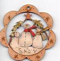 Snowmen Trio 6cm Decoration