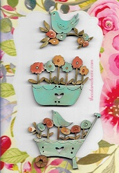 Flower & bird set One only