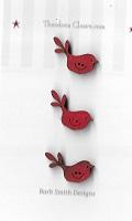 Flying tiny red birds x 3
