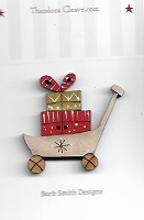 Trolley with presents button 36mm tall