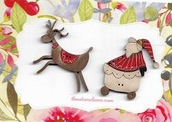 Here We Go Sled Santa & Deer
