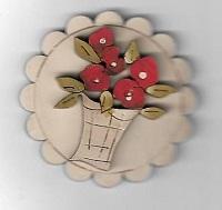 Flower brooch#16 Red