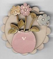 flower wearable#9 Pink vase