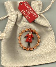 Small Bag & mini december Santa decoration
