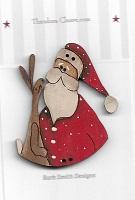 Santa & Bunny Button