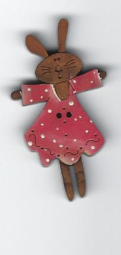 Bunny Bright Pink dress 4.5cm