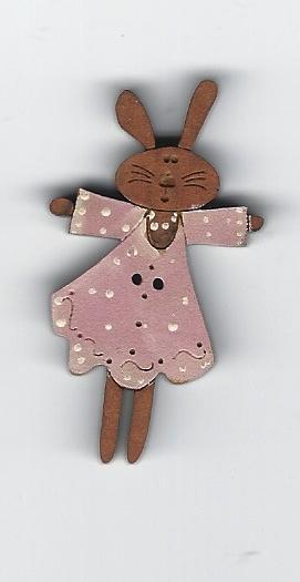 Bunny palepinkdress button
