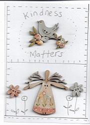 garden angel button stitchery card